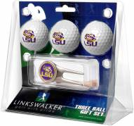 LSU Tigers Golf Ball Gift Pack with Cap Tool