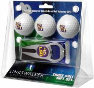 LSU Tigers Golf Ball Gift Pack with Hat Trick Divot Tool