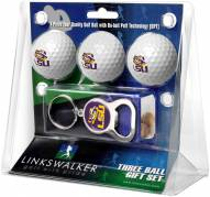 LSU Tigers Golf Ball Gift Pack with Key Chain