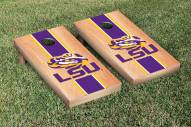 LSU Tigers Hardcourt Stripe Cornhole Game Set