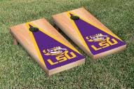 LSU Tigers Hardcourt Triangle Cornhole Game Set
