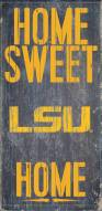 LSU Tigers Home Sweet Home Wood Sign