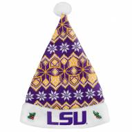 LSU Tigers Knit Santa Hat