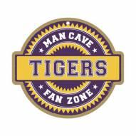 LSU Tigers Man Cave Fan Zone Wood Sign