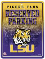 LSU Tigers Metal Parking Sign