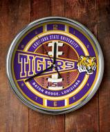 LSU Tigers NCAA Chrome Wall Clock