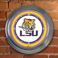 LSU Tigers NCAA Neon Wall Clock