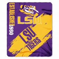 LSU Tigers Painted Fleece Blanket