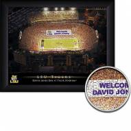 LSU Tigers Personalized Framed Stadium Print