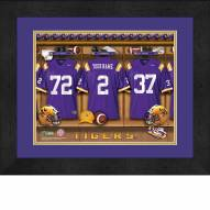 LSU Tigers Personalized Locker Room 13 x 16 Framed Photograph