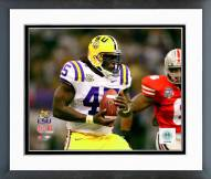 LSU Tigers Quinn Johnson 2008 Action Framed Photo