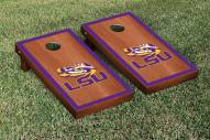 LSU Tigers Rosewood Stained Border Cornhole Game Set