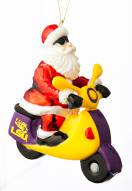 LSU Tigers Santa Scooter Ornament