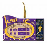 LSU Tigers Scoreboard Tree Ornament