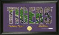 LSU Tigers Silhouette Bronze Coin Panoramic Photo Mint