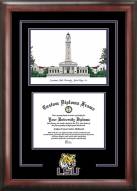 LSU Tigers Spirit Diploma Frame with Campus Image