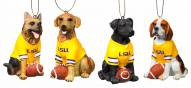 LSU Tigers Team Dog Ornaments