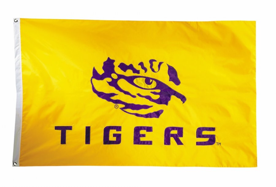 LSU Tigers Two Sided 3' x 5' Flag