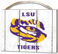 LSU Tigers Weathered Logo Small Plaque