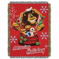 Madagascar A Roaring Holiday Throw Blanket