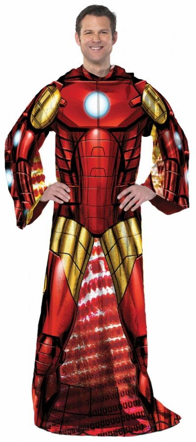 Marvel Iron Man Full Body Comfy Throw Blanket
