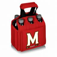 Maryland Terrapins Red Six Pack Cooler Tote