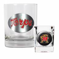 Maryland Terrapins Rocks Glass & Shot Glass Set
