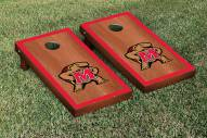 Maryland Terrapins Rosewood Stained Border Cornhole Game Set