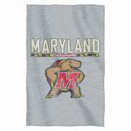 Maryland Terrapins Script Sweatshirt Throw Blanket
