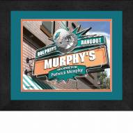 Miami Dolphins 13 x 16 Personalized Framed Sports Pub Print
