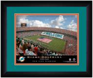 Miami Dolphins 13 x 16 Personalized Framed Stadium Print