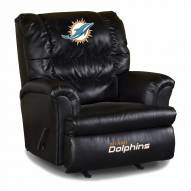 Miami Dolphins Big Daddy Leather Recliner