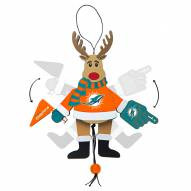 Miami Dolphins Cheering Reindeer Ornament