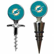 Miami Dolphins Cork Screw & Wine Bottle Topper Set