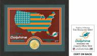 Miami Dolphins Country Bronze Coin Photo Mint