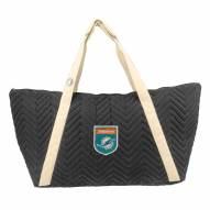 Miami Dolphins Crest Chevron Weekender Bag