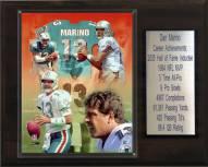 "Miami Dolphins Dan Marino 12"" x 15"" Career Stat Plaque"