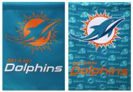 Miami Dolphins Double Sided Glitter Flag