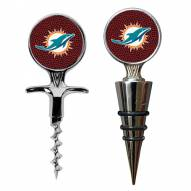 Miami Dolphins GameBall Cork Screw & Wine Bottle Topper Set