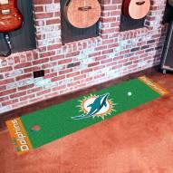 Miami Dolphins Golf Putting Green Mat