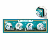 Miami Dolphins Helmets Wood Sign