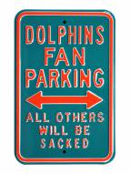Miami Dolphins NFL Authentic Parking Sign