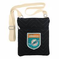 Miami Dolphins Chevron Stitch Crossbody Bag