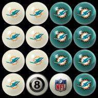 Miami Dolphins NFL Home vs. Away Pool Ball Set