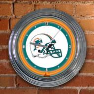 Miami Dolphins NFL Neon Wall Clock