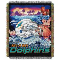 Miami Dolphins NFL Woven Tapestry Throw
