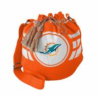 Miami Dolphins Orange Ripple Drawstring Bucket Bag