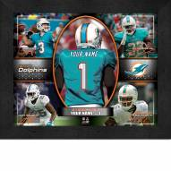 Miami Dolphins Personalized Framed Action Collage