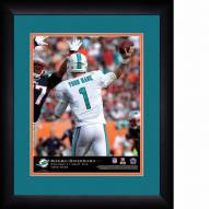 Miami Dolphins Personalized 13 x 16 NFL Action QB Framed Print