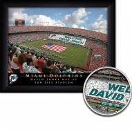 Miami Dolphins Personalized Framed Stadium Print